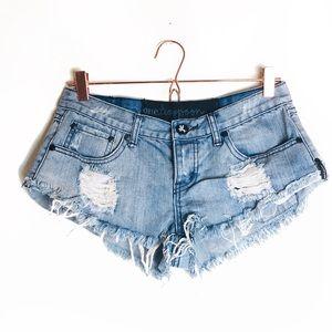 EUC One Teaspoon High Waisted Denim Shorts 8/26